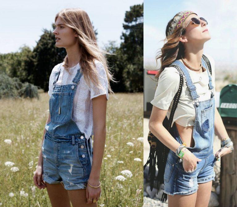 phong cách thời trang quần yếm jean