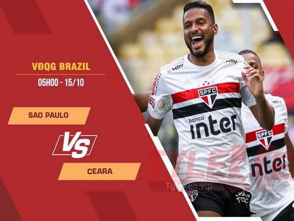 Soi kèo Sao Paulo vs Ceara 15/10